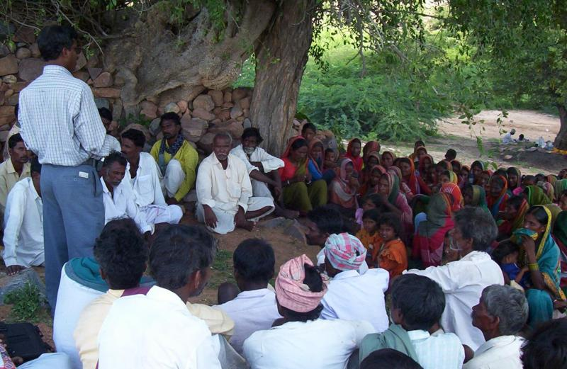 Communiy Meeting to resolve their issues through SHGs